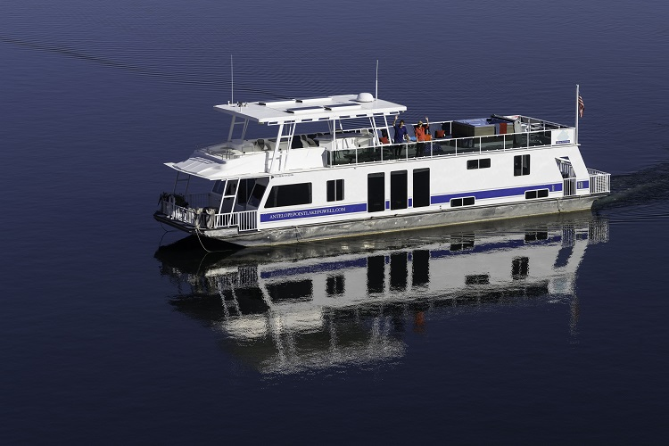 70-ft Silver Houseboat